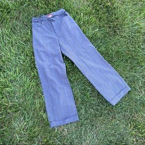 Y2K Esprit plaid high rise trouser pants 3/4